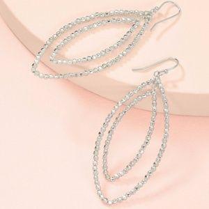 stella & dot ~ silver bardot hoop earrings